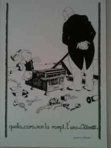 Pubblicità Olivetti vintage al Museo Tecnologic@mente di Ivrea